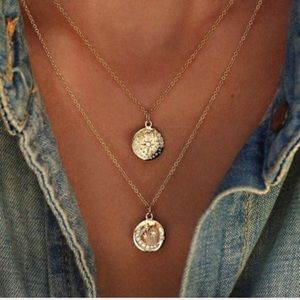 LAST ONE! Boho gold pave layered necklace